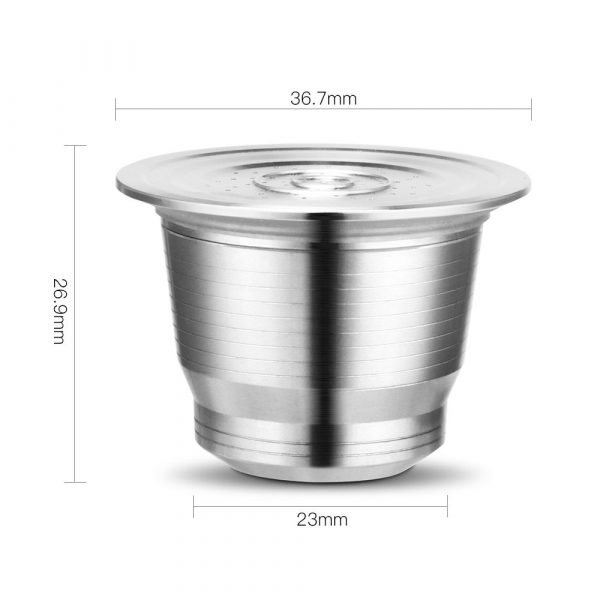 Nespresso Reusable Coffee Capsule Stainless Steel Refillable Filters Espresso Cup Fit for Inissia & Pixie Coffee Maker Machine