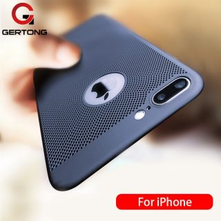 Ultra Slim Phone Case For iPhone 6 6s 7 8 Plus Hollow Heat Dissipation Case Hard PC For iPhone 5 S SE 11 12 Pro XR X XS MAX i12