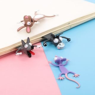 3D Creative PVC Stereo Cartoon Marker Cute Animal Style Bookmarks Cute Cat Funny Student School Stationery For Children Gift